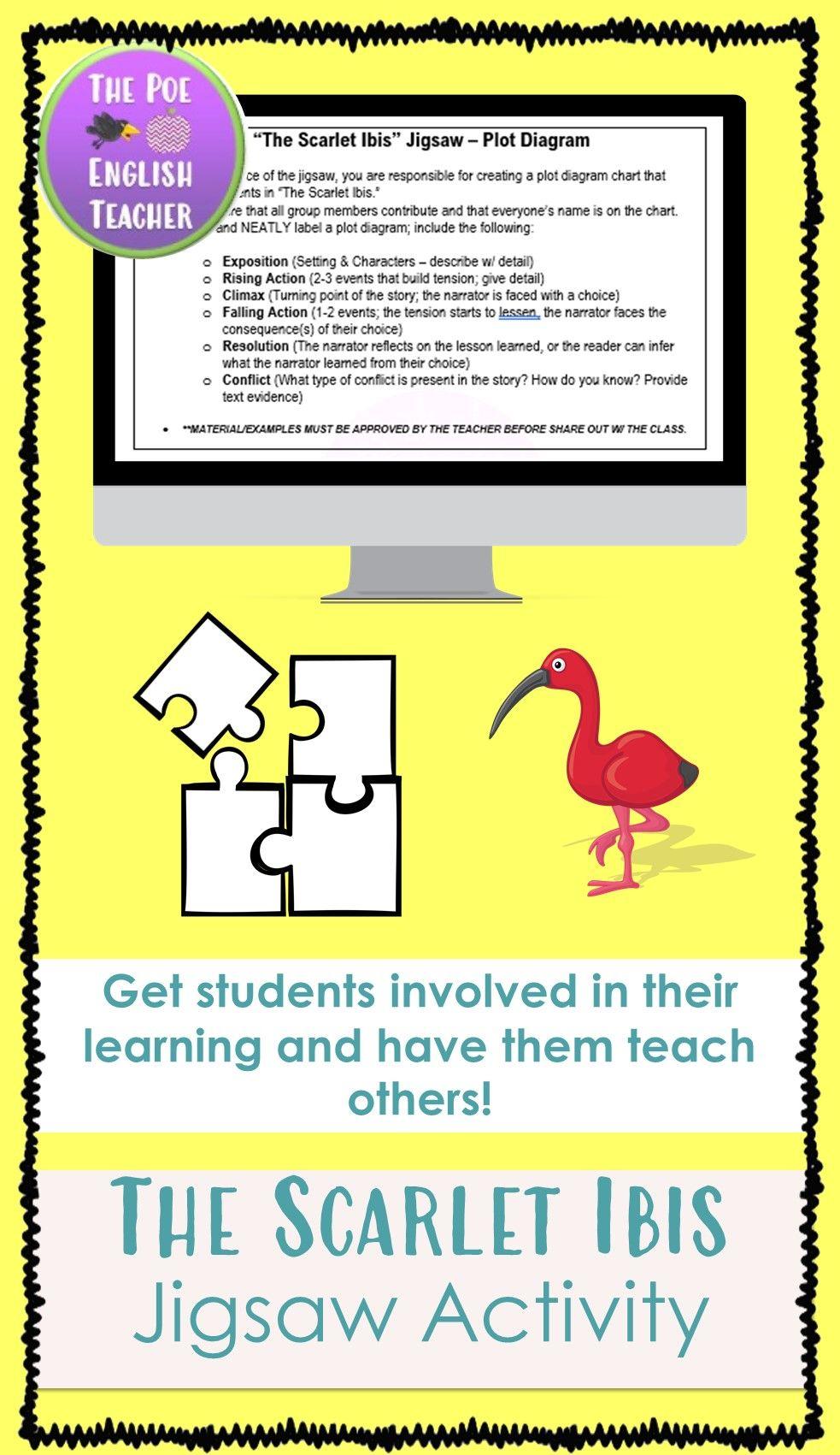 The Scarlet Ibis Jigsaw Activity In 2020 Student Activities Student Reading Activities
