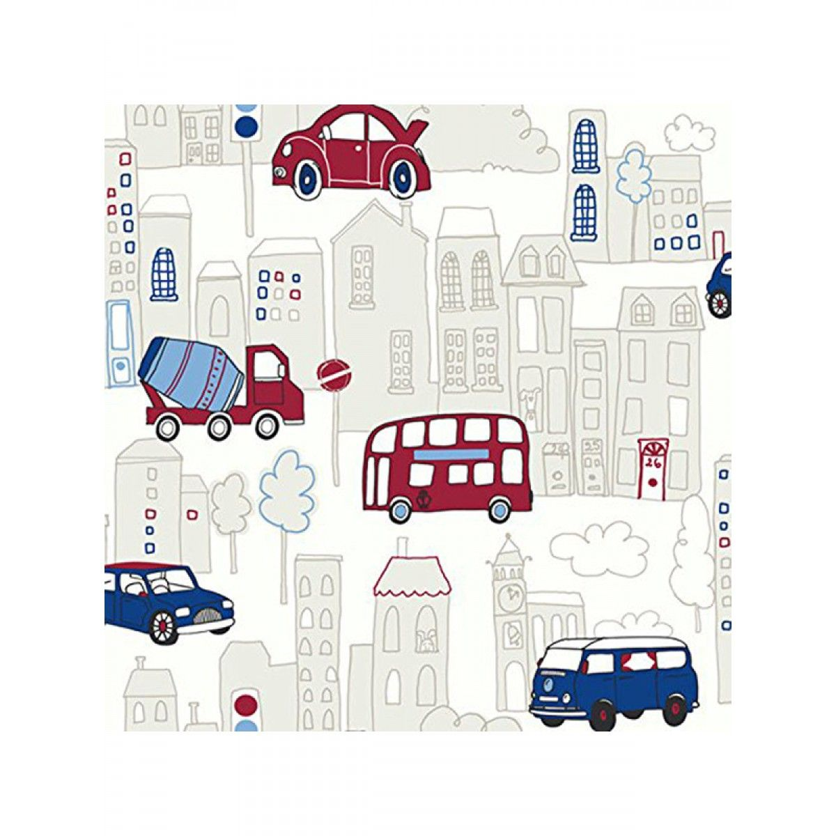 Lampshade Handmade With Opera Motor Mania Blue Wallpaper FREE