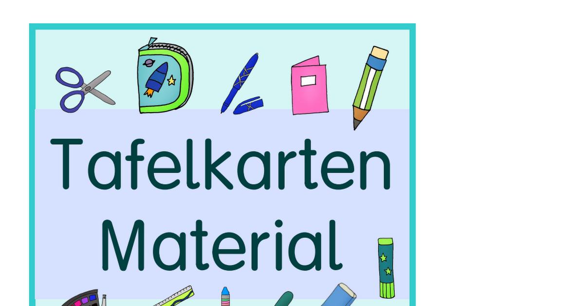 Klassenregeln grundschule bildkarten  Tafelkarten Material.pdf | Schule | Klassenregeln grundschule ...