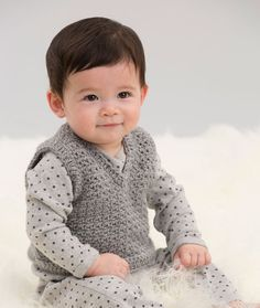 Easy V-Neck Vest free crochet pattern. Crochet this for a snappy look that boys will enjoy wearing. Of course, girls will enjoy this classic retro style, as well. free pattern