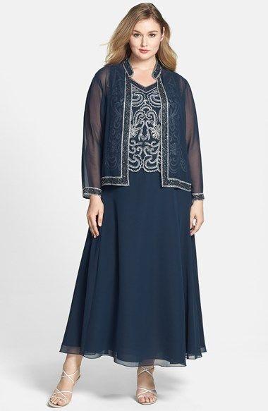 aca2233616 J Kara Embellished Long Dress   Jacket (Plus Size) available at  Nordstrom