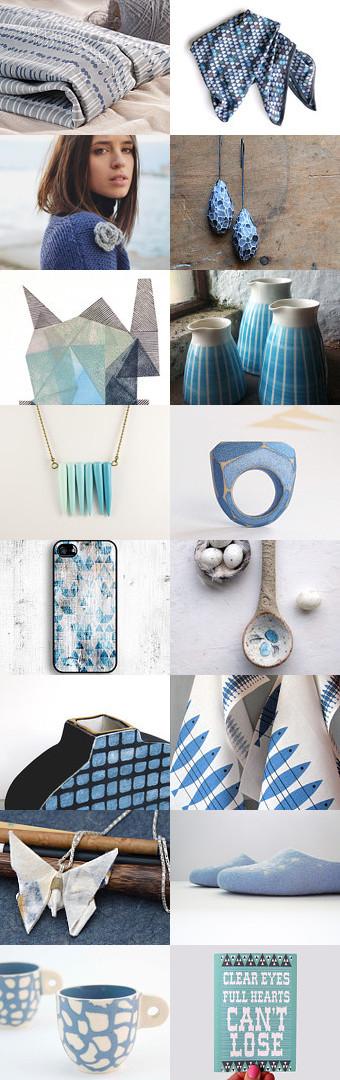 Shades of Blue by Orawee Bradley on Etsy