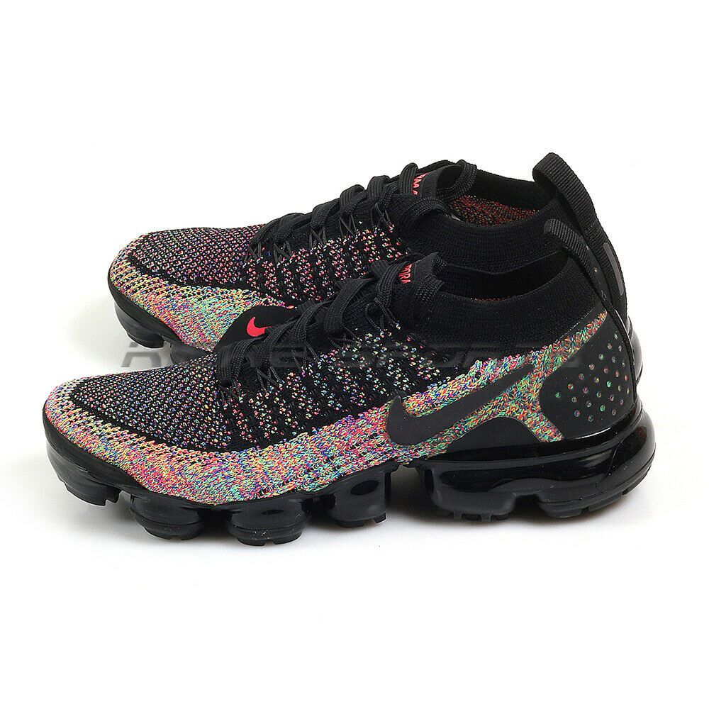 official photos f4601 8cbb1 Nike W Air VaporMax Flyknit 2 Black/Black-Racer Pink Running ...