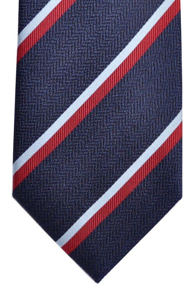 3f8b874ad01c6 Ermenegildo Zegna Tie Navy Sky Blue Red Stripes | Zegna | Red ...