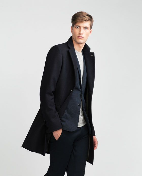 Image 2 of COAT WITH LAPELS from Zara | Coat, Fashion, Outfits