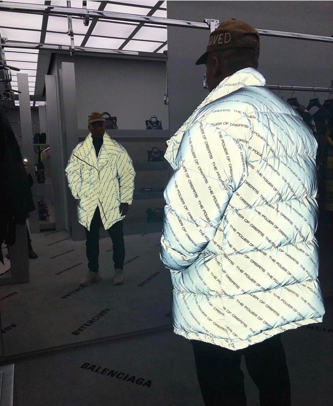Balenciaga Mens Gray Silver Reflective Down Jacket Jackets For Women Jackets Balenciaga Style [ 1368 x 1121 Pixel ]