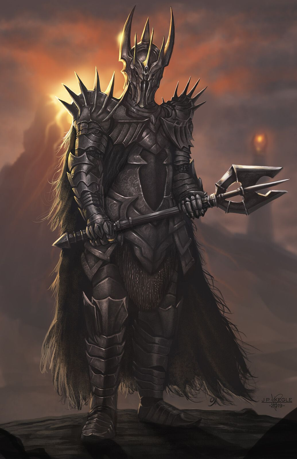 Sauron, Jean Pascal Leclerc Kegle on ArtStation at  https://www.artstation.com/artwork/1nVkAo | Lord of the rings tattoo,  Middle earth art, Dark souls art
