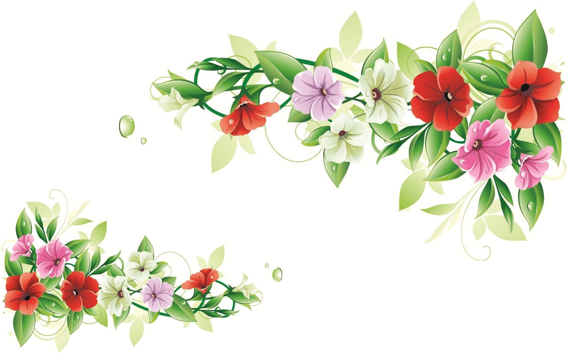 frame fleurs | Flowers design frame set | HD Wallpapers Rocks ...