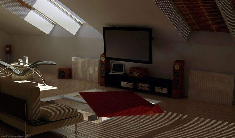 small closet renovation ideas - hanging a tv in an attic Google Search