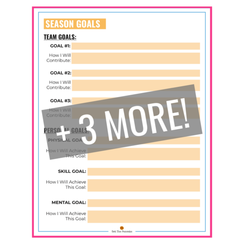Coach How To Set Goals With Your Volleyball Team Team Goals Goals Worksheet Volleyball Team