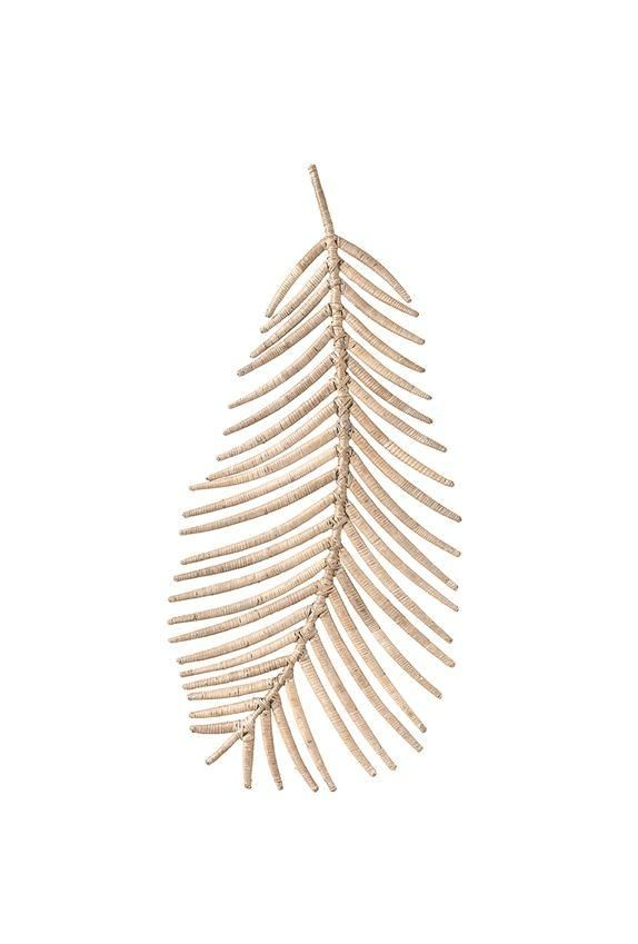 Rattan Palm Frond Wall Decor