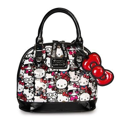 93094fa57b24 NWT Loungefly s Hello Kitty All Stars Patent Embossed Mini Dome Bag ...