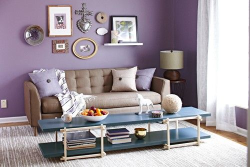 10 Beautiful Purple Living Room Design Ideas Wohnzimmerwand