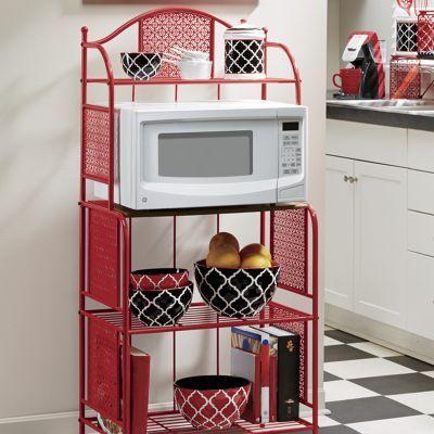 Stamped Metal Microwave Stand
