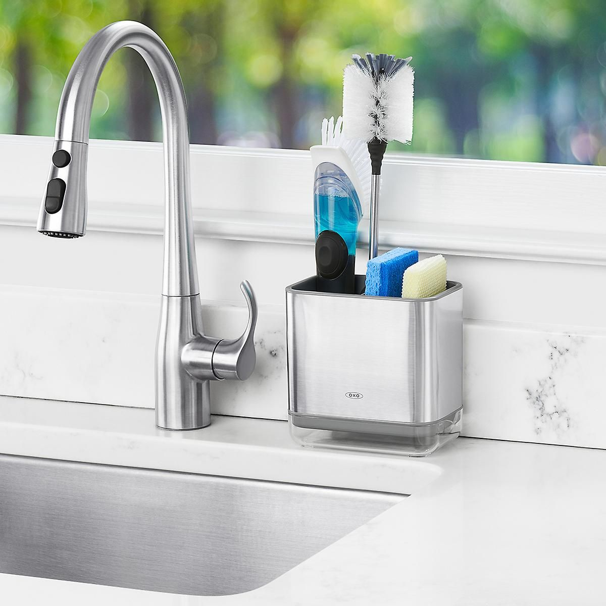 OXO Stainless Steel Sink Caddy Sink caddy, Sink