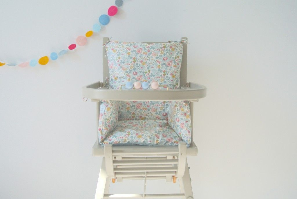 Coussin Chaise Haute Combelle Liberty Betsy Porcelaine Coussin
