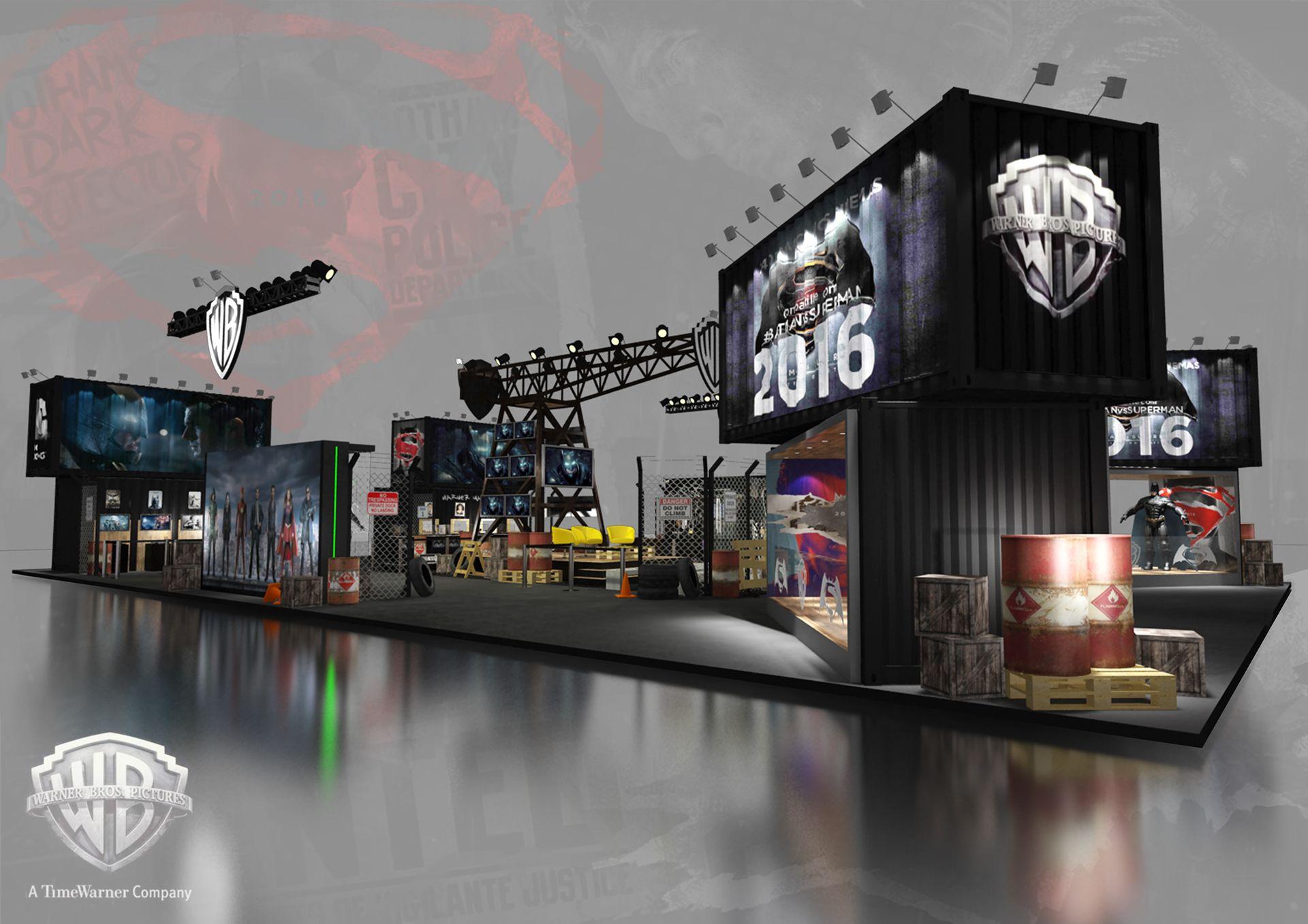 Warner Bros Ccxp 2015 On Behance Vystavochnye Stendy Vystavochnyj Stend