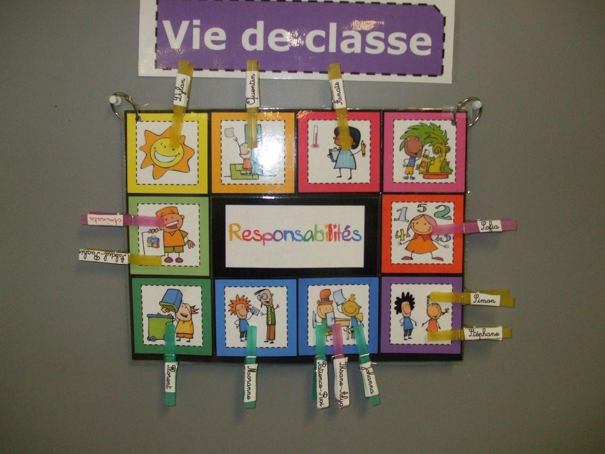 Responsabilit s classe organisation pinterest - Image classe maternelle ...