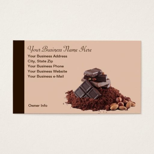 Yummy chocolate theme professional business card chocolate yummy chocolate theme professional business card colourmoves