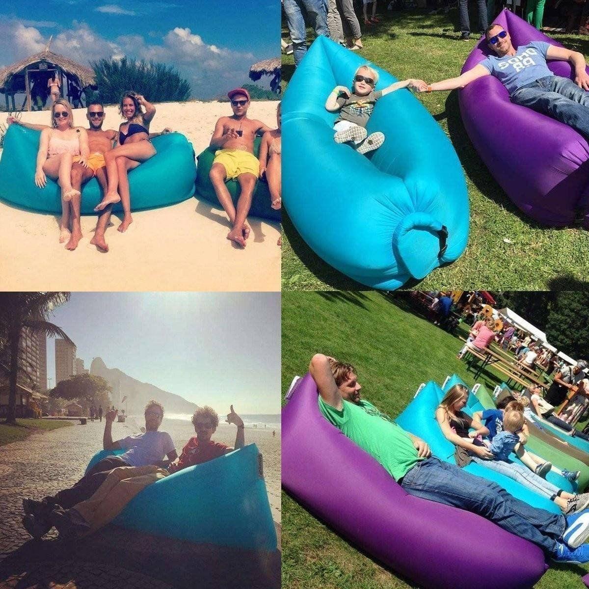 Flexsteel Sofa US Fast Inflatable Air Bag Lamzac Sofa Camping Outdoor Beach Picnic Sleeping Bed