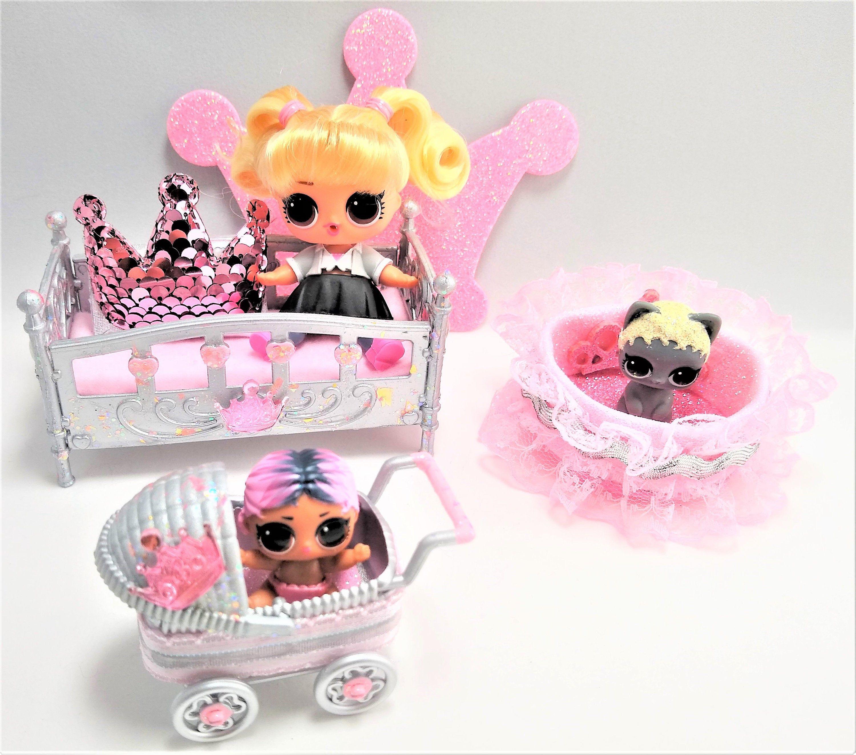 Doll Custom Made Dollhouse Princess Bedroom Set Birthday