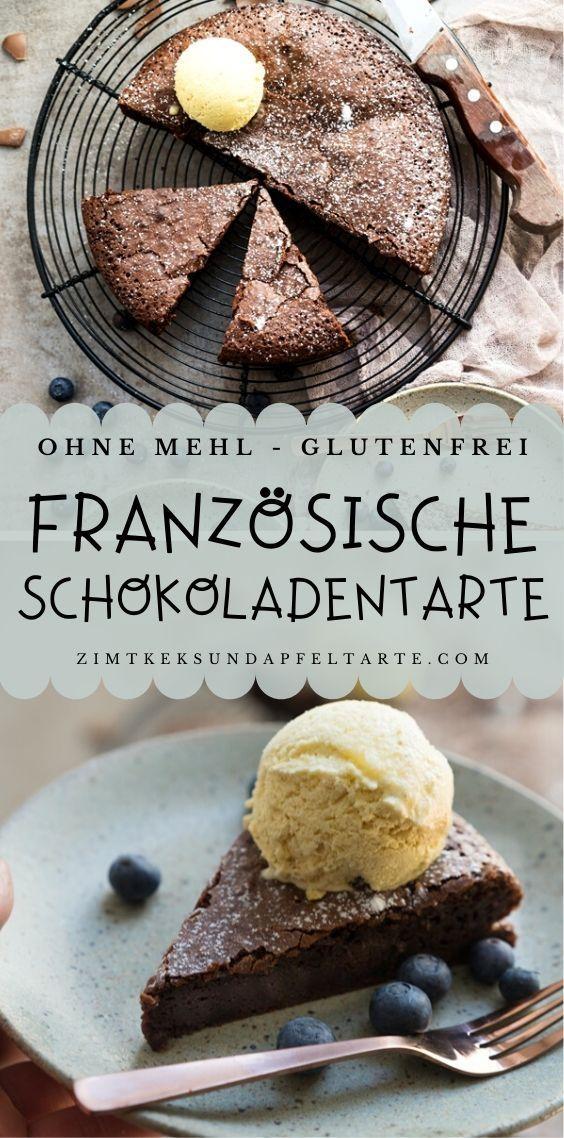 Photo of Saftige Schokoladentarte ohne Mehl – Zimtkeks und Apfeltarte