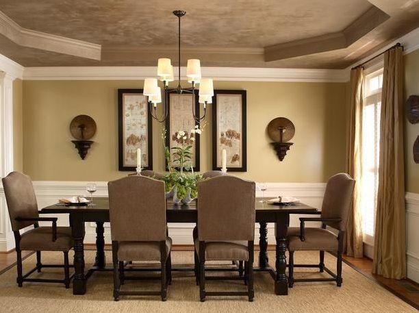 Light Brown Dining Room Paint Colors With Classic Furniture Jpg 612 457 Ruang Makan Ruangan Minimalis