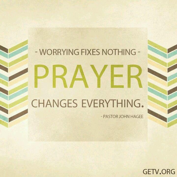 Worrying vs. Prayer
