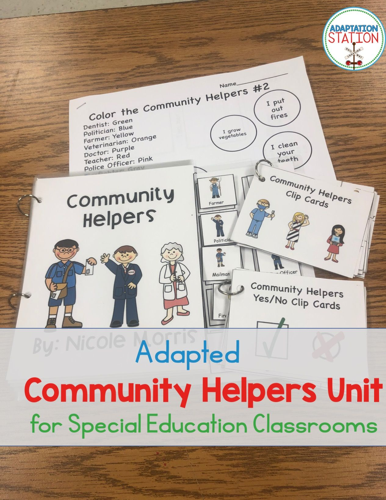 Community Helpers Adapted Materials For Special Education
