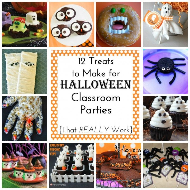 12 Easy Treats (to make) for Halloween Class Parties Halloween - halloween class decoration ideas