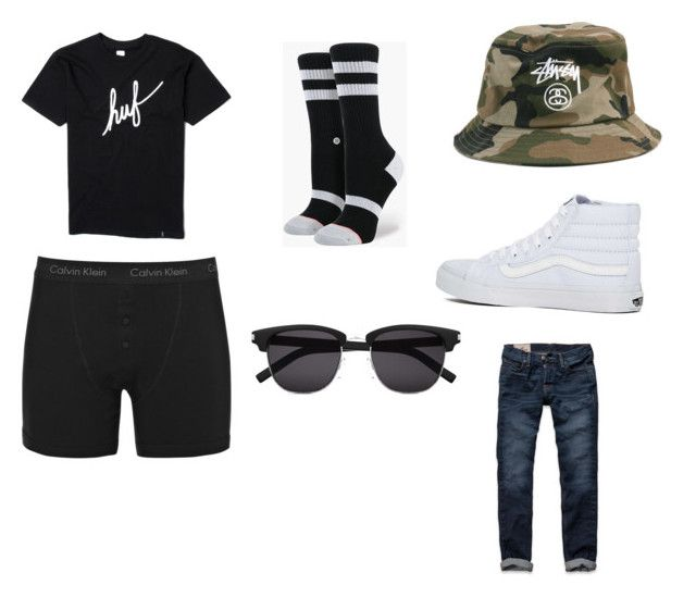 m by theodorharms on Polyvore featuring Hollister Co., Stance, Vans, Stussy, Calvin Klein Underwear, HUF and Yves Saint Laurent
