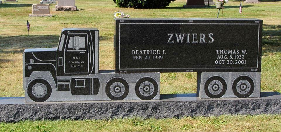 Truck Headstone Unusual Headstones Tombstone Epitaphs