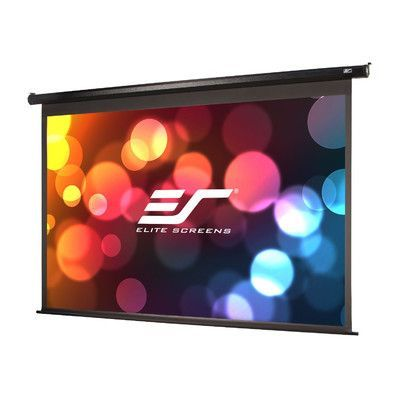 Elite Screens Vmax2 Series Maxwhite Electric Projection Screen Viewing Area 128 Diagonal Large Projector Screen Projector Screen Outdoor Projection Screen