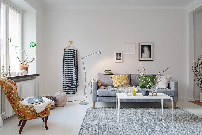 Bilder, Vardagsrum, Vitt, Matta, Grått - Hemnet Inspiration ... : vardagsrum matta : Vardagsrum