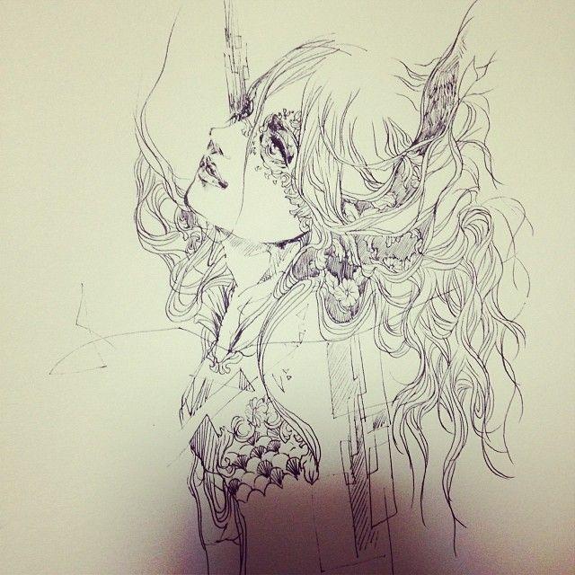 なんか変な絵になりまして。。。#art  #artwork  #illustration  #rakugaki #落書き #絵 #イラスト