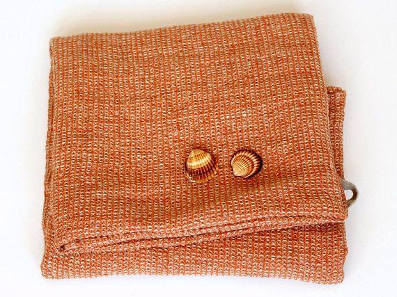 Waffle Linen Bath Towel Orange Flax Towels 100 Linen