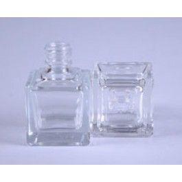 15ml Flint Cube Glass Bottle