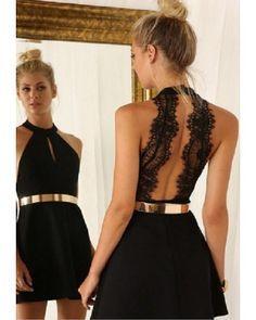 Vestidos negro para fiesta de noche
