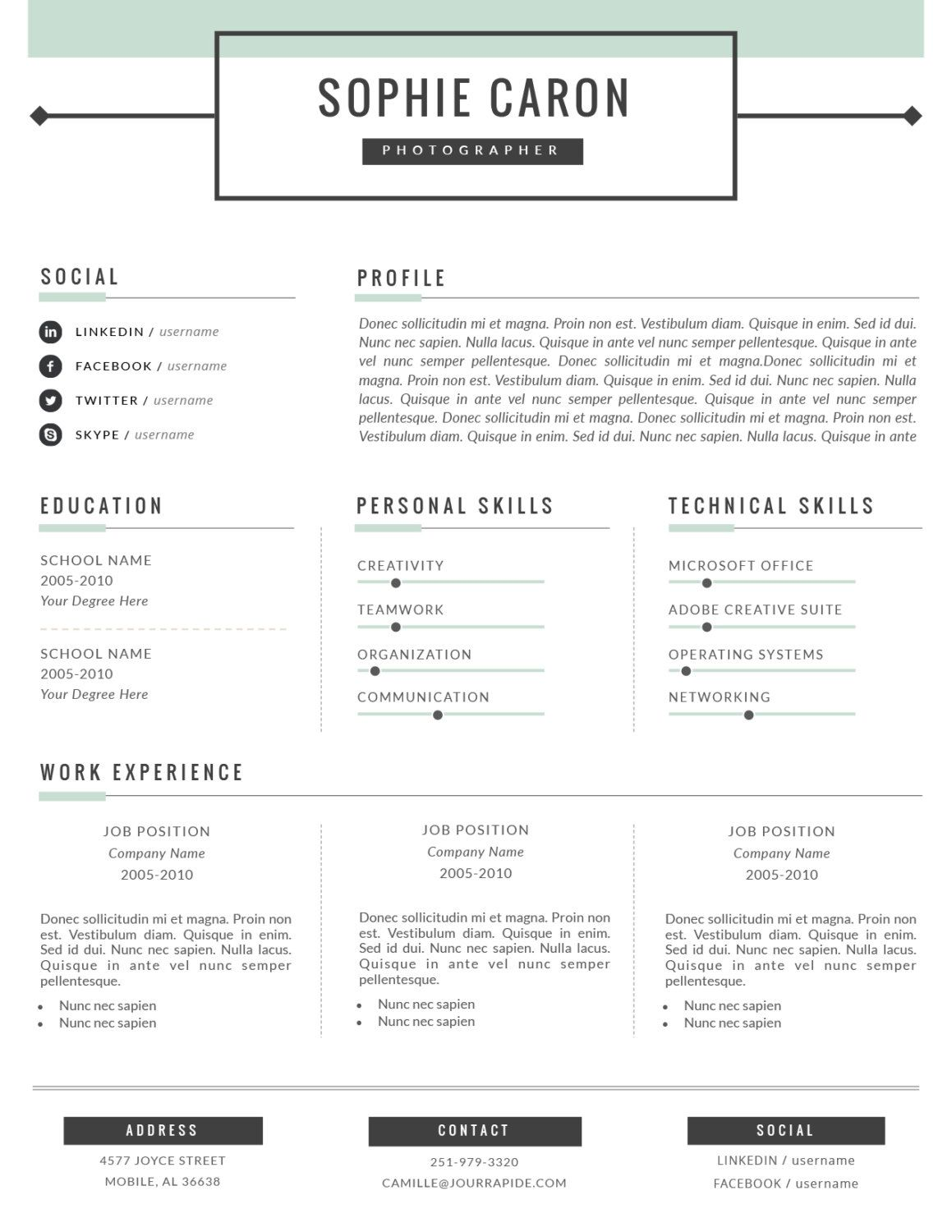 Resume Template   Page Resume And Free Cover Letter For Word