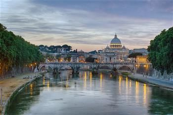 """Erik and Ainsley Jacobs are the winner's of March's Featured Artist Contest with the image """"Ponte Sant'Angelo."""" See more work here > http://www.americanframe.com/artist/ainsley-jacobs.aspx"""