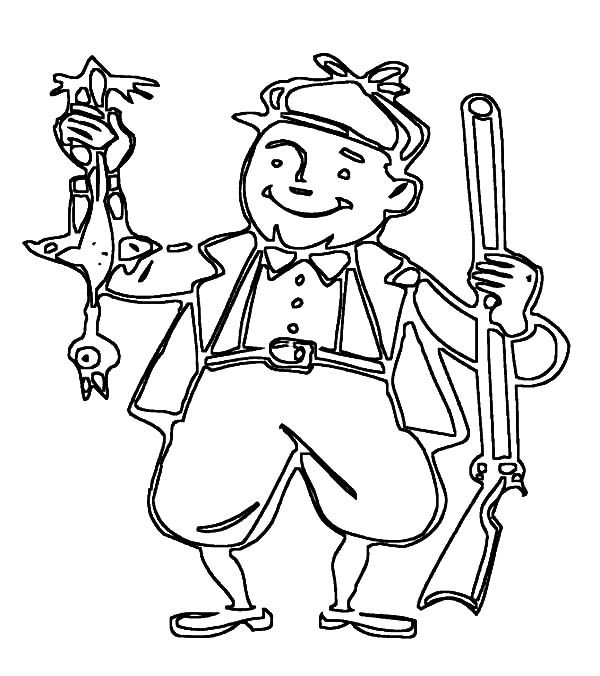 Hunter Back From Duck Hunting Coloring Pages Coloring Sky Coloring Pages Duck Hunting Hunting