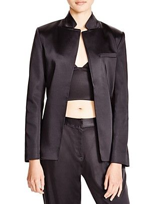 T BY ALEXANDER WANG Satin Open Front Jacketdry Clean. #tbyalexanderwang #cloth #clean