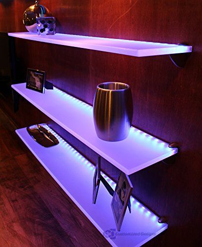 Wine Racks Led Lighted Floating Shelf With Lights 4 Long