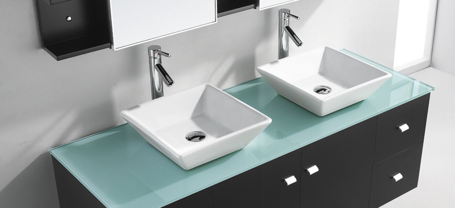 Price Glass Bathroom Countertops Double Above Counter Sinks