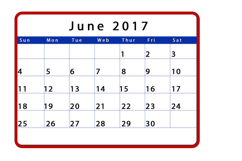 June Calendar June Calendar Printable June Calendar