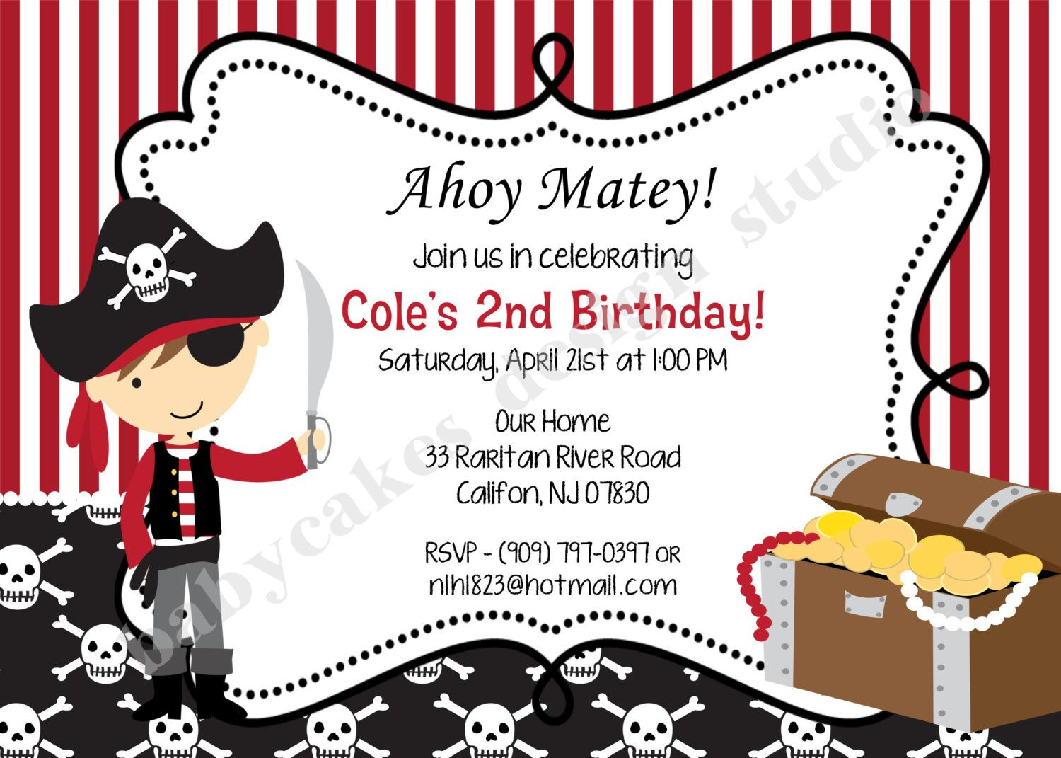 Pirate Invitation Invite Pirate birthday pirate party pirate ...