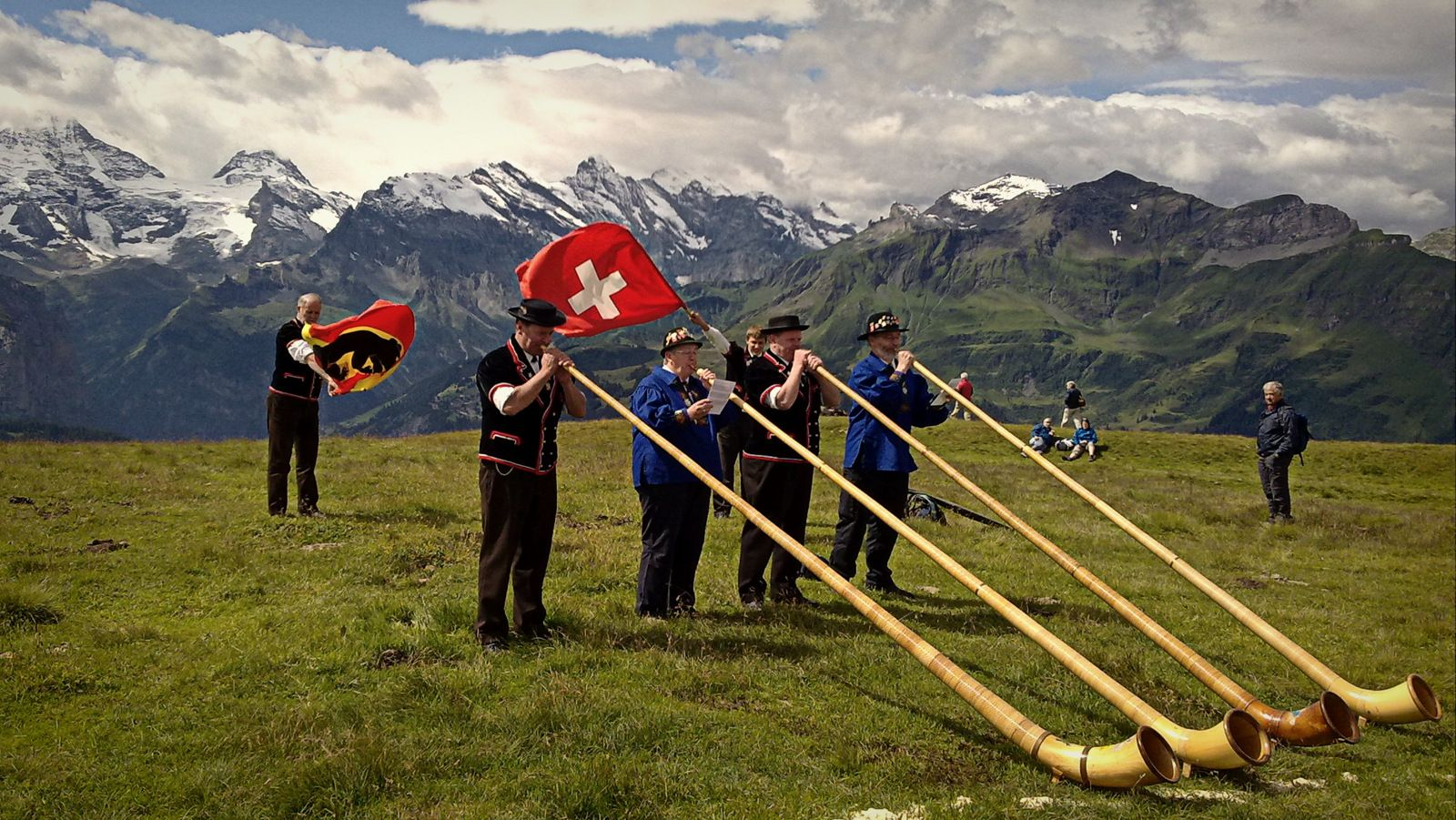 Traditional Symbols Of Switzerland The Swiss Flag The Alphorn And