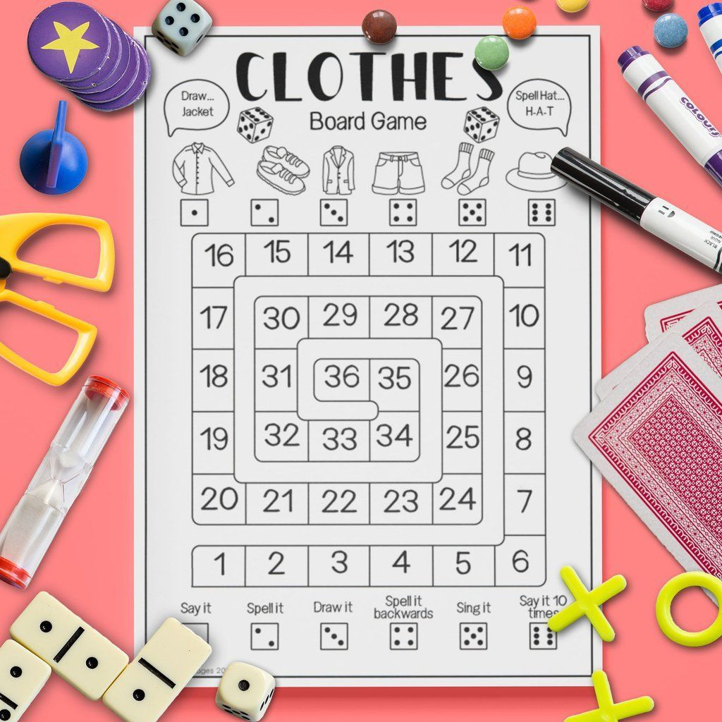 Clothes Board Game In
