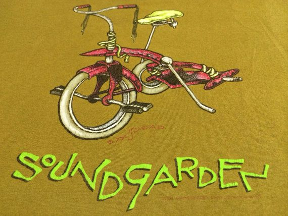 SOUNDGARDEN Shirt 1994 Vintage/ Original PUSHEAD Kickstand ...