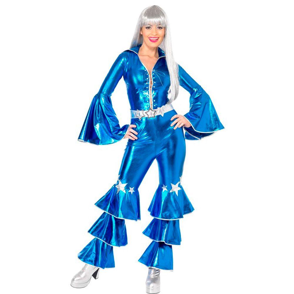 1fa59629b7b06 Disfraz Disco Azul Años 70 Adulto - Envío 24 horas ✅. Encuentra este Pin y  muchos más en Disfraces años 50 ...